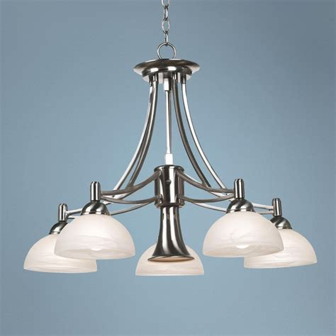 Contemporary Brushed Nickel Chandelier Contemporary Brushed Nickel Downlight Chandelier