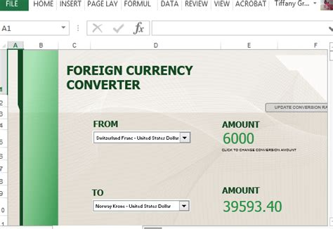Currency Converter Template For Excel Convert Theme To Template
