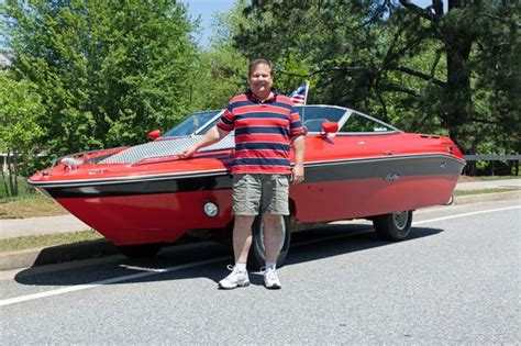 boat made into car petrolhead turns sunken boat into roadworthy car after