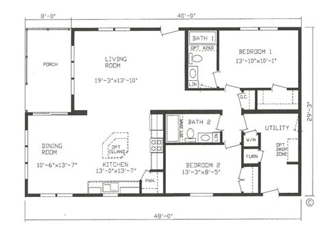 Floor Plans For New Homes by Mfg Homes Floor Plans New Manufactured Homes Floor Plans