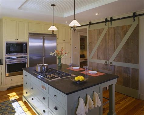 Barn Door In Kitchen Barn Doors In Kitchen Country Kitchen Hutker Architects