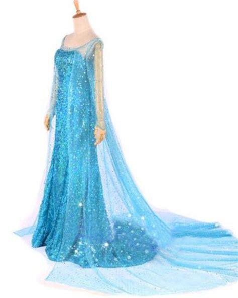 Dress Frozen Blue k77 womens frozen snow elsa costume gown fancy dress ebay