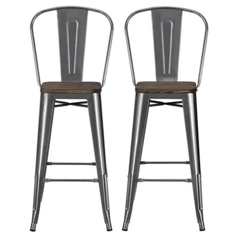 Target Bar Stools 30 by Luxor 30 Quot Metal Bar Stool With Wood Seat Set Of 2