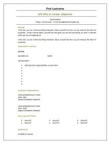 Blank Resume Template Word by 7 Free Blank Cv Resume Templates For Free Cv Template Dot Org