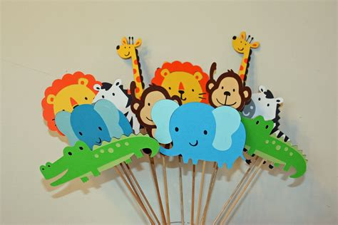 zoo themed decorations jungle zoo circus safari table decorations set of 12