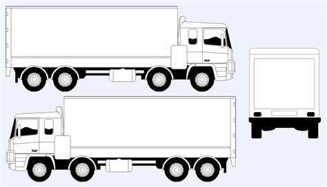 vehicle outline templates introduction truck wrap