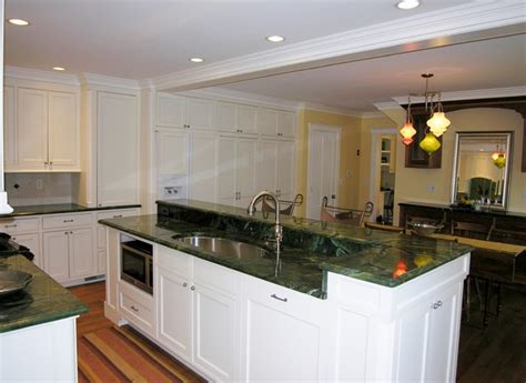 Raised Kitchen Island Kitchen Island Combines Yet Separates 2 Rooms Now Spaces Traditional Kitchen Boston