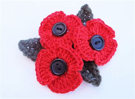 pattern crochet poppy addicted to making how to crochet a poppy