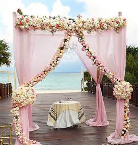 wedding ceremony decorations cancun blush pink wedding ceremony flowers