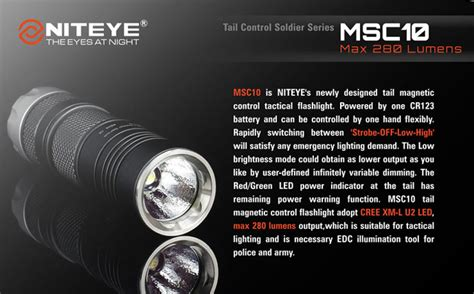 Jetbeam Se A02 Senter Tiny Pen Led Cree Xpe 280 Lumens niteye msc10 senter led cree xm l u2 280 lumens black jakartanotebook