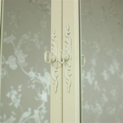 white wooden mirrored bathroom wall cabinet shabby vintage cream wooden mirrored wall cabinet shabby vintage chic