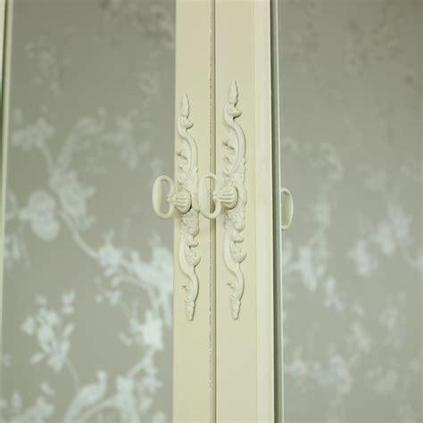 shabby chic mirrored bathroom cabinet cream wooden mirrored wall cabinet shabby vintage chic