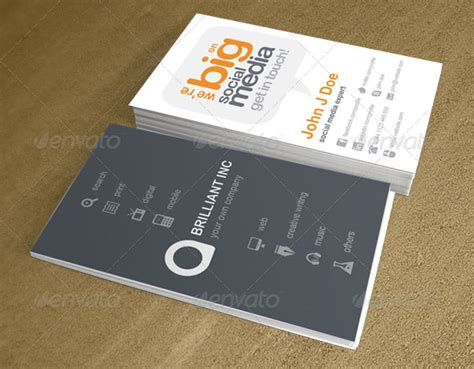 business card for social media company google search