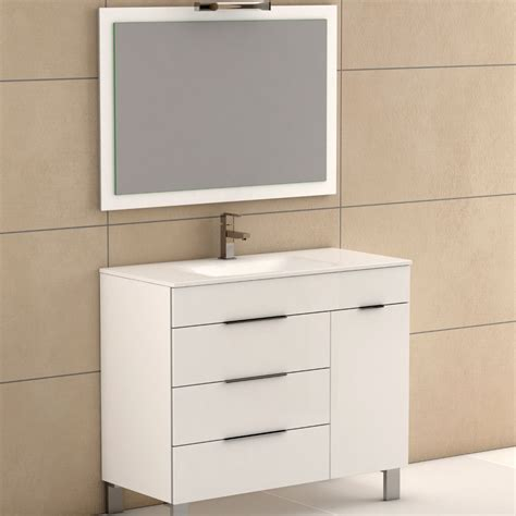 white modern bathroom vanities eviva geminis 174 39 quot white modern bathroom vanity with white