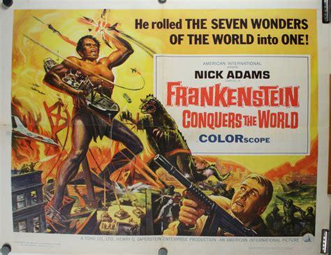 film series half world frankenstein conquers the world original half sheet movie
