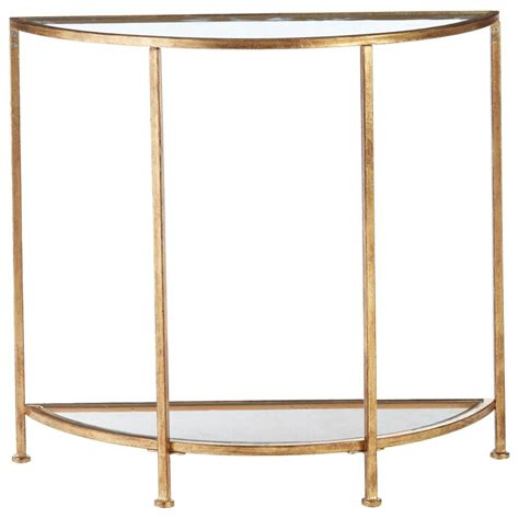 home decorators console table home decorators bella aged gold demilune glass console