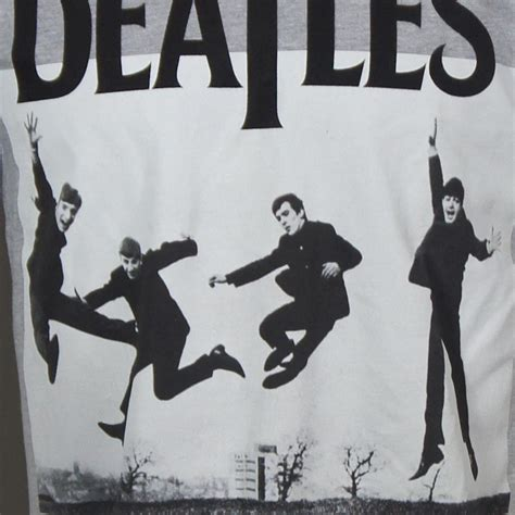 Paul George Ringo Shirts authentic the beatles jump photo paul george ringo
