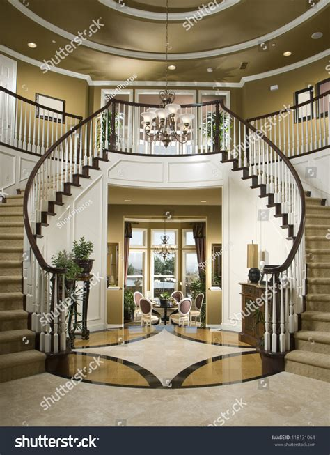 Updown Court Floor Plan by Beautiful Entry Staircase This Luxury Stairway Stock Photo