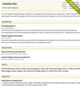 concise resume template free resume templates cv templates resumonk