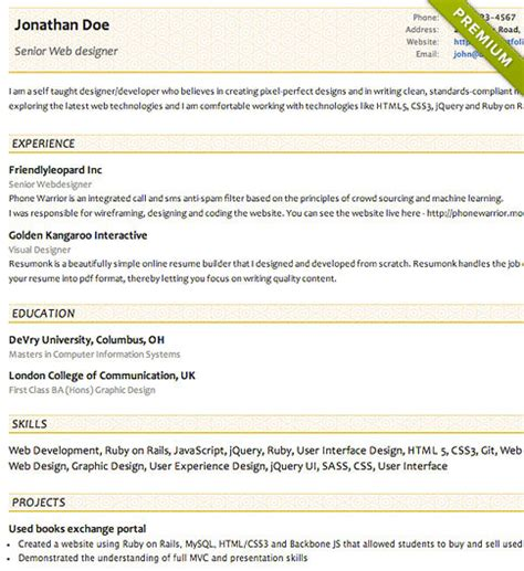 Free Resume Templates Cv Templates Resumonk Concise Resume Template