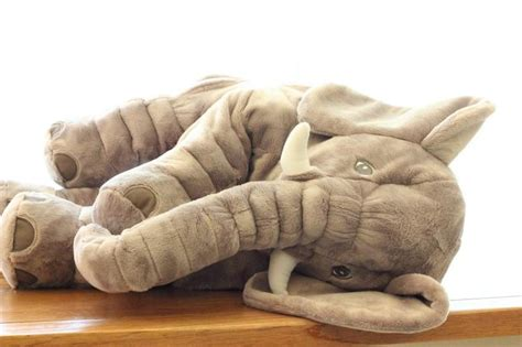 Pillow+Blanket Cute Elephant Stlye Plush Toy Pink 2 In 1 ... Giant Pink Teddy Bear
