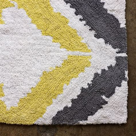 Yellow And Gray Bathroom Rug Tali Bath Mat West Elm