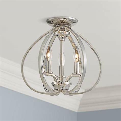 tilbury light tilbury 14 quot wide polished nickel ceiling light 9g407