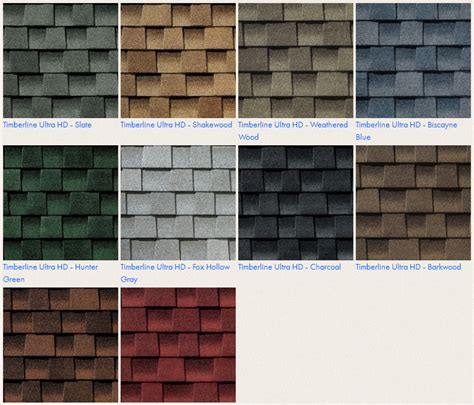timberline shingles color chart timberline shingle colors timberline architectural