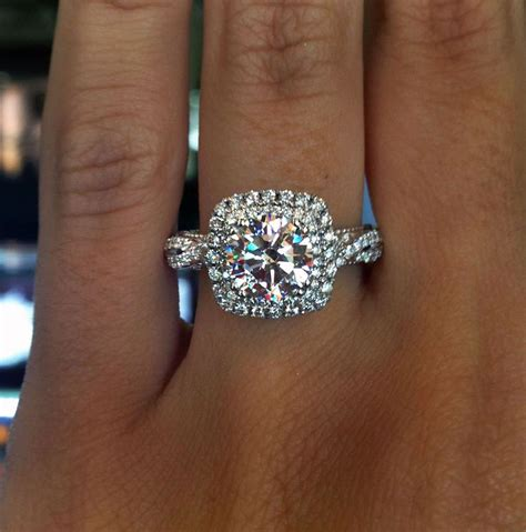 verragio halo engagement ring engagement rings