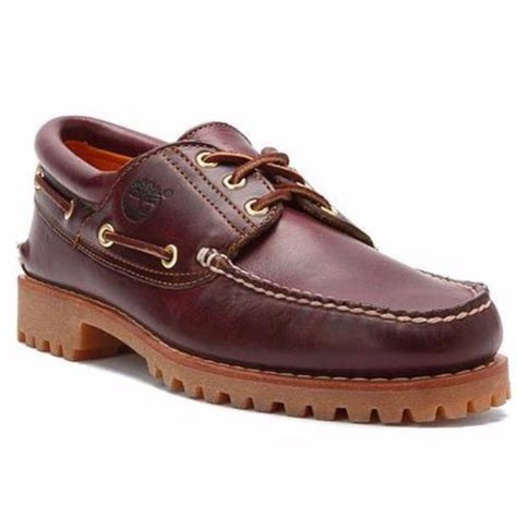 timberland icon boat shoes timberland icon 3 eye classic lug boat shoes oxblood red
