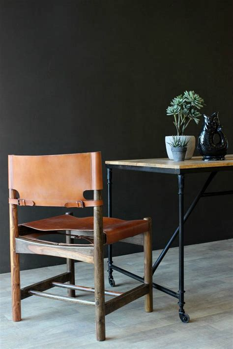 leather wood dining chairs wood and leather dining chair mad about the house