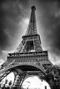 Paris paris eiffel tower black and white