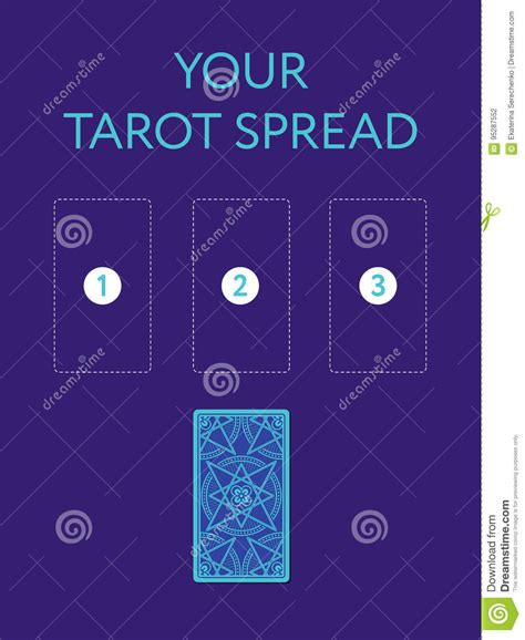 Cards Spread Template by Template For Three Tarot Card Spread Side Stock