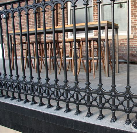 traditional cast iron stair and balcony railings