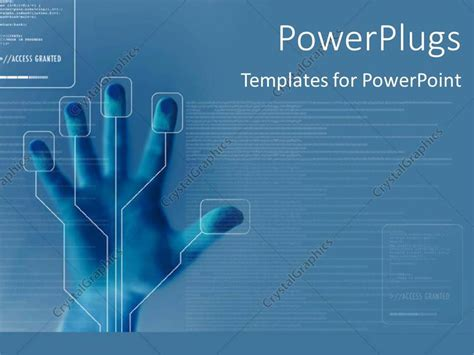 templates powerpoint crystalgraphics powerpoint template technology for finger printing