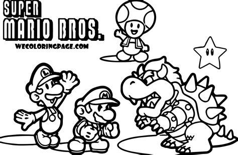 mario brothers coloring pages mario bros characters coloring pages sketch coloring