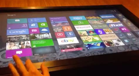 windows 8 coffee table aka surface og technabob