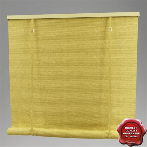curtain roll roll curtain 3d model