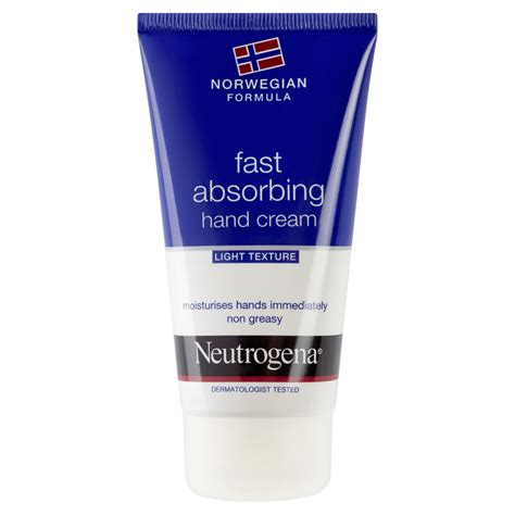 neutrogena comfort cream neutrogena fast absorbing hand cream light texture 75ml at