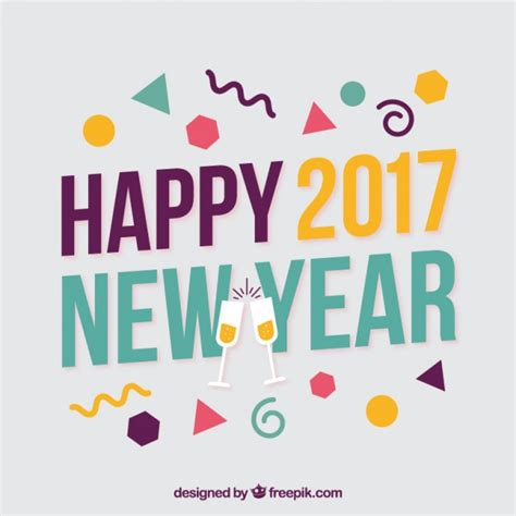 new years style style happy new year 2017 background vector free
