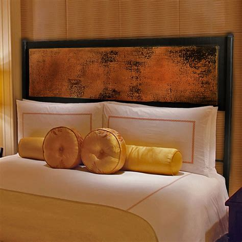copper headboard pictured here is the chanal wrought iron headboard with