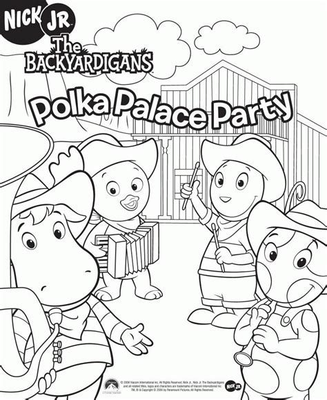 nick jr backyardigans coloring pages backyardigans color pages coloring home