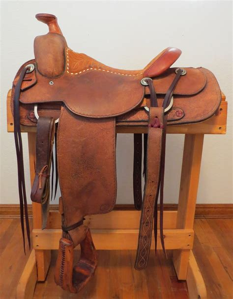 Handmade Saddles For Sale - 9088 handmade larry duggan cowboy saddle shop out 15 188