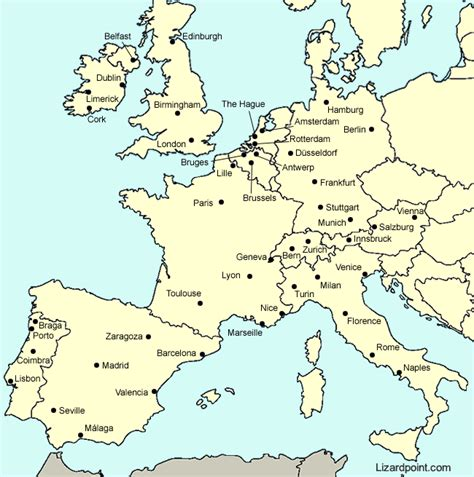 main cities of europe 97 map of europe major cities thefreebiedepot