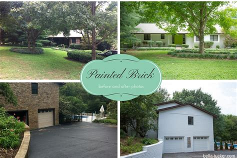 Ranch Remodel Exterior White Painted Brick Exterior Before And After Bella