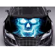 STICKER DECAL VINYL COLOR HOOD FIT ANY CAR SKULL 109