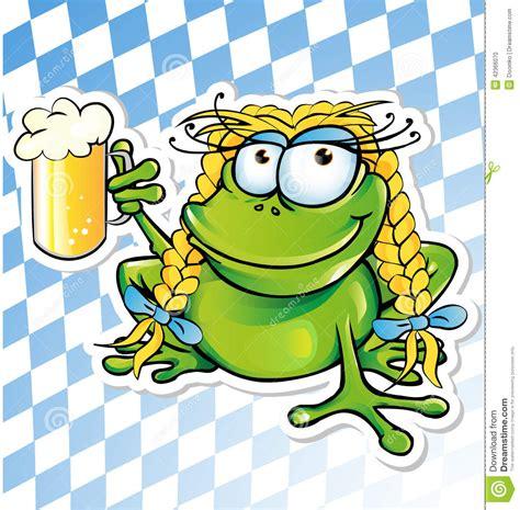 funny beer cartoon funny frog cartoon stock vector image 42366070