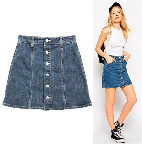 what to wear with a denim a line skirt fashion skirts
