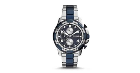 Fossil Fs 5149 dean chronograph two tone stainless steel fossil