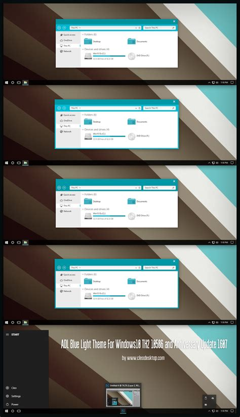 visual themes for windows 10 adl blue light theme for windows10 anniversary update 1607